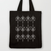 Retro Floral Pattern Tote Bag by Catherine Holcombe | Society6