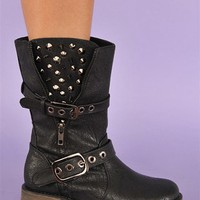 Guns N Roses Rocker Boot - Black at Necessary Clothing