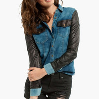 Honest Sleeves Denim Shirt $39