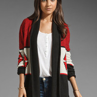 BB Dakota Elijah Pattern Colorblock Cardigan in Red from REVOLVEclothing.com