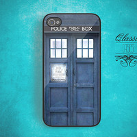 iPhone 4 iPhone 4s Hard Case Tardis Dr Who Phonebooth - Phone Cover