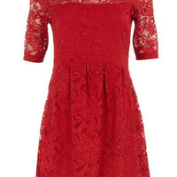 Petite red lace dress - Petite Clothing - New In Clothing - What's New - Dorothy Perkins