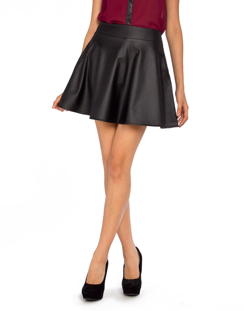 mini leather flare skirt 2020ave from shop 2020ave