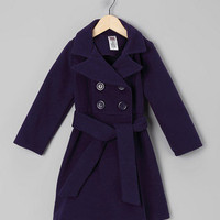 Just Kids - Purple Double-Breasted Peacoat