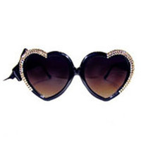 24karat Gold Half-heart Swarovski sunnies