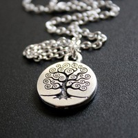 Silver Tree of Life Necklace by JewelryDeli on Etsy