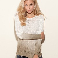 Long-Sleeve Dip-Dye Pullover at GUESS