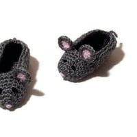 Mouse Baby Booties Animal Slippers Crochet Character Shoes