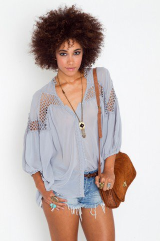 Inner Circle Blouse - Silver - NASTY GAL