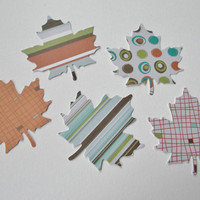 Autumn Fall Paper Leaf Leaves Paper Cut Outs Cutouts Scrapbook Embellishments Tags Decorations  Set of 50