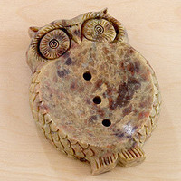 Soapstone Owl Soap Dish | Bathroom| Bed & Bath | World Market