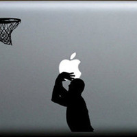 Playing basketball Mac Book Mac Book Air Mac Book Pro Mac Sticker Mac Decal Apple Decal Mac Decals