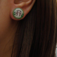 starbucks logo stud