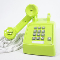 Lime Green Telephone - Retro
