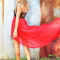 It&#x27;s So Easy Fall In Love Dress: Red | Hope&#x27;s