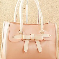 OASAP - Sweet Bowknot Zipped Handbag - Street Fashion Store