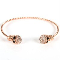 Rose Gold Skull Cuff Bracelet