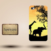 iPhone Case for iPhone 4 or 4S,iphone 5 cases coming soon,unique handmade hard Plastic case cover,African Elephant,P series 02