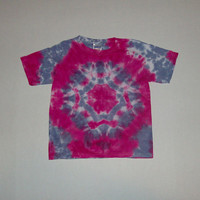 Youth Small - Pink &amp; Purple Tie Dye Mandala T-Shirt