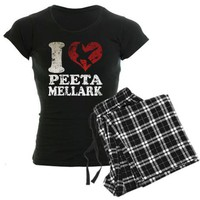 Hunger Games I heart Peeta Women's Dark Pajamas on CafePress.com