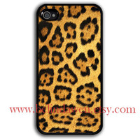 Leopard Decal iphone case, iPhone 4 Case, iPhone 4s Case,  Leopard Decal graphic iphone 4 case, iPhone hard Case