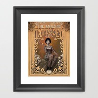 The Amazing Tattooed Lady Framed Art Print by Rudy Faber | Society6