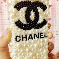 iPhone 5/4 case cover pearl Swarovski crystals Rhinestone Handmade jewel iPhone case Studded Bling decorate iPhone 4s case