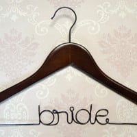 Personalized Wedding Dress Hanger for Bride or by NoviaArtesana