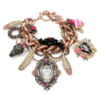 Betsey Johnson 'Lady Luck' Charm Toggle Bracelet