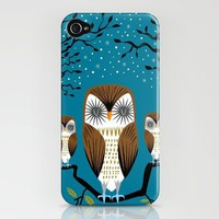 Three Lazy Owls iPhone Case by Oliver Lake | Society6