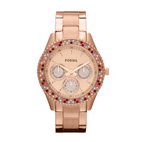 FOSSIL® Watch Collections Stella Watches:Watch Collections Stella Stainless Steel Watch - Rose ES3198