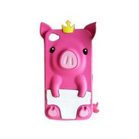 Amazon.com: Peach 3D Pig Cartoon Animal Silicone Case Cover for iPhone 4 4G 4S: Cell Phones & Accessories