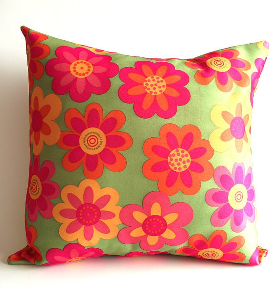 Fabric For Throw Pillow Covers : Throw Pillow Cover...decorative Flower from LiliaVaniniGlamour