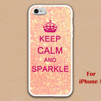 iPhone 5 Case, keep calm and sparkle iphone 5 case, sparkle iphone 5 case, case for iphone 5