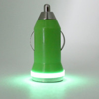 Glow in the Dark iPhone and Android Mobile Phone Car Charger Adapter