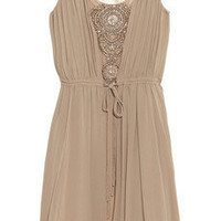 Thurley Crystal-embellished silk-chiffon dress - 55% Off Now at THE OUTNET