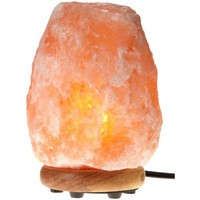 WBM 8-Inch Himalayan Natural Crystal Salt Lamp with Bulb and Cord