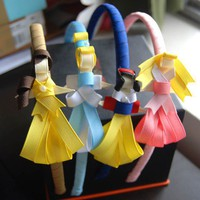 3 disney inspired princess clips or headband by daniellimb on Etsy
