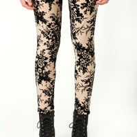 Kerri Floral Flocked Leggings