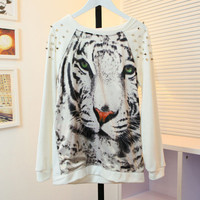 Tiger Studded Sweater