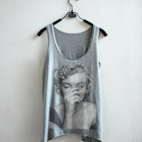 Marilyn Monroe Tank Top - Grey