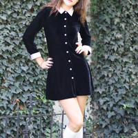 velvet grunge mini dress / black lolita by thewitcheryvintage