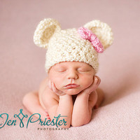 Homespun Bear Beanie by britt6934 on Etsy