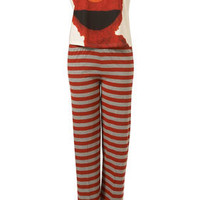 Elmo Geek Chic Tee And Bottom - Lingerie & Nightwear - Clothing - Topshop
