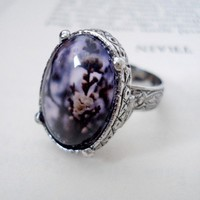 Vintage Heirloom Polaroid Purple Photo Ring  by jerseymaids