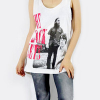 THE BLACK KEYS Alternative Rock Shirt White Shirt Vest Women Tank Top Tunic Singlet Women Shirt Sleeveless Women T-Shirt T-Shirt Size L