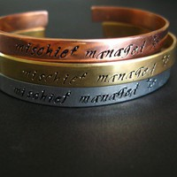 Mischief Managed Cuff Bracelet | Spiffing Jewelry