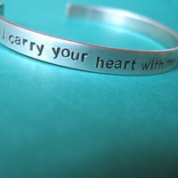 I carry your heart Cuff | Spiffing Jewelry