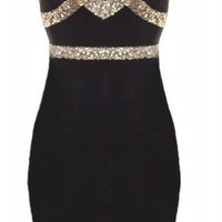 Sweetheart Sequin Dress