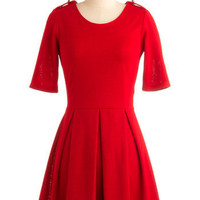 Ladylike in Red Dress | Mod Retro Vintage Dresses | ModCloth.com